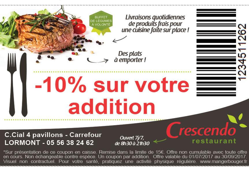 coupon reduction crescendo