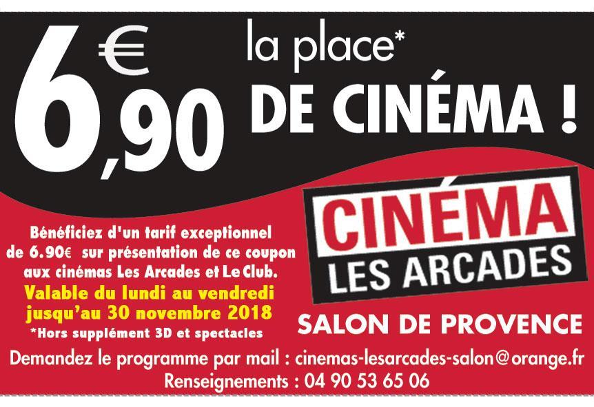 Proxi bon plan cin ma les arcades salon de provence r duction - Cinema les arcades salon de provence ...